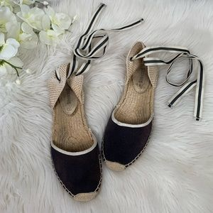 Soludos Blue Lace Up Espadrilles in Size 7